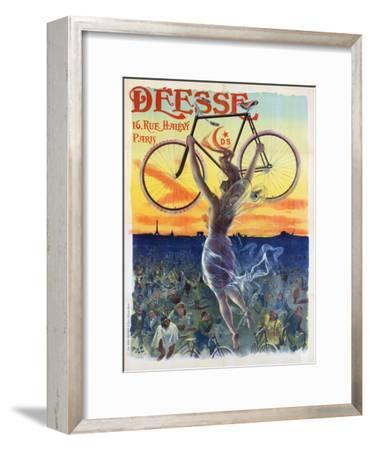 Vintage French Poster of a Goddess with a Bicycle, C.1898-Pal-Framed Giclee Print