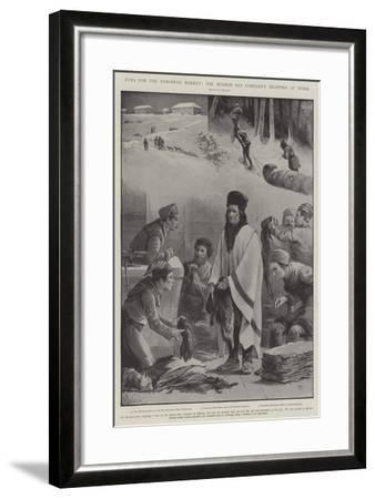 Furs for the European Market, the Hudson Bay Company's Trappers at Work-Paul Frenzeny-Framed Giclee Print
