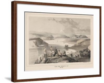 View from Webster Island, Yedo Bay, Litho by Sarony and Co., 1855-Peter Bernhard Wilhelm Heine-Framed Giclee Print