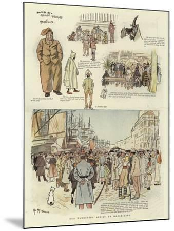 Our Wandering Artist at Marseilles-Phil May-Mounted Giclee Print