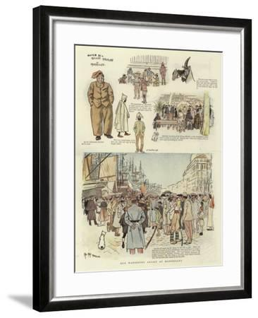 Our Wandering Artist at Marseilles-Phil May-Framed Giclee Print