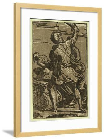 The Sacrifice of Abraham, Between Ca. 1520 and 1700-Parmigianino-Framed Giclee Print