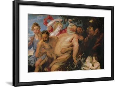 Drunken Silenus Supported by Satyrs, C.1620-Peter Paul Rubens-Framed Giclee Print