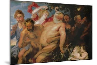 Drunken Silenus Supported by Satyrs, C.1620-Peter Paul Rubens-Mounted Giclee Print
