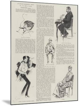 An English Humoristic Artist, Mr Phil May at Home-Phil May-Mounted Giclee Print