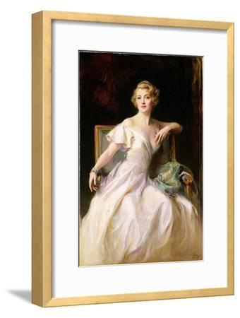 The White Dress - a Portrait of Joan Clarkson, 1935-Philip Alexius De Laszlo-Framed Giclee Print