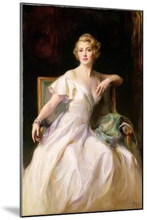 The White Dress - a Portrait of Joan Clarkson, 1935-Philip Alexius De Laszlo-Mounted Giclee Print