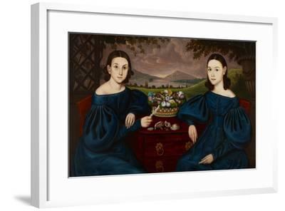 Ann and Eliza Dusenberry, 1838-Orlando Hand Bears-Framed Giclee Print