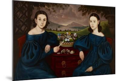 Ann and Eliza Dusenberry, 1838-Orlando Hand Bears-Mounted Giclee Print