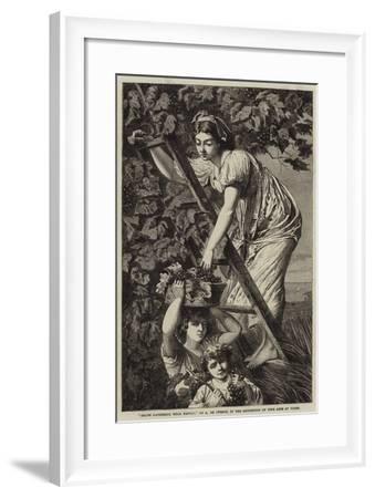 Grape Gathering Near Naples-Paul Alfred De Curzon-Framed Giclee Print
