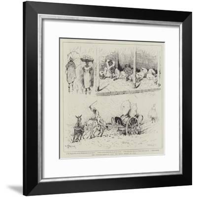 The Spanish-American War, the Rainy Season in Cuba-Paul Frenzeny-Framed Giclee Print
