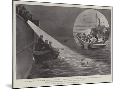 Holbein's Attempt to Swim the Channel, 31 July and 1 August-Paul Frenzeny-Mounted Giclee Print