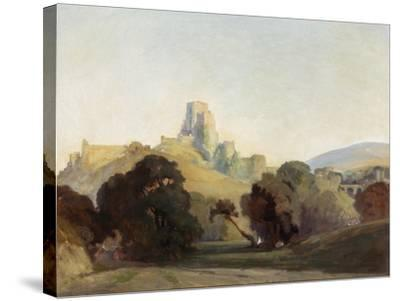 Corfe Castle, 1909-Niels Moller Lund-Stretched Canvas Print