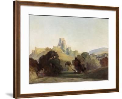 Corfe Castle, 1909-Niels Moller Lund-Framed Giclee Print