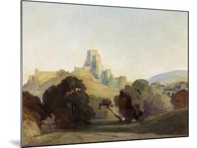 Corfe Castle, 1909-Niels Moller Lund-Mounted Giclee Print
