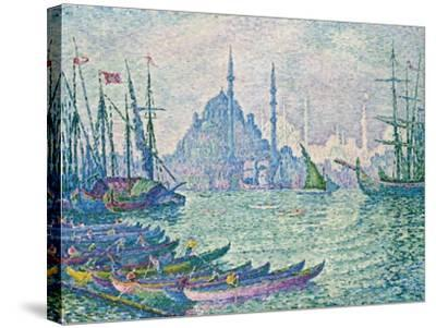 The Minarets at the Golden Horn; La Corne D'Or, Les Minarets, 1907-Paul Signac-Stretched Canvas Print