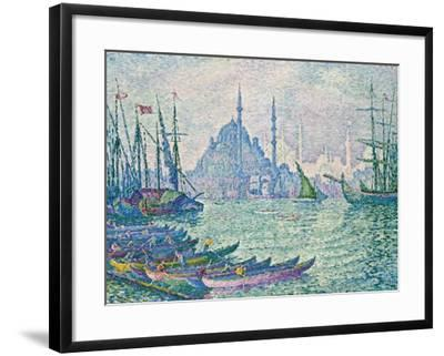 The Minarets at the Golden Horn; La Corne D'Or, Les Minarets, 1907-Paul Signac-Framed Giclee Print