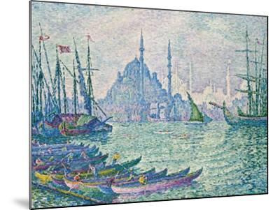 The Minarets at the Golden Horn; La Corne D'Or, Les Minarets, 1907-Paul Signac-Mounted Giclee Print