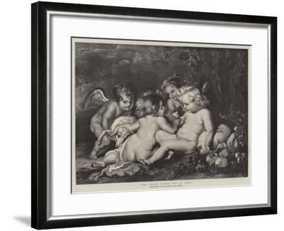 The Infant Christ and St John-Peter Paul Rubens-Framed Giclee Print