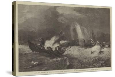 South Sea Whaling, in the General Exhibition of Water-Colour Drawings, Dudley Gallery-Oswald Walters Brierly-Stretched Canvas Print