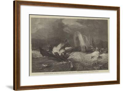 South Sea Whaling, in the General Exhibition of Water-Colour Drawings, Dudley Gallery-Oswald Walters Brierly-Framed Giclee Print