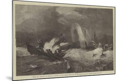 South Sea Whaling, in the General Exhibition of Water-Colour Drawings, Dudley Gallery-Oswald Walters Brierly-Mounted Giclee Print
