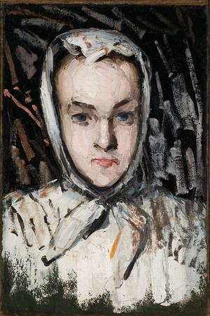 Marie Cézanne, the Artist's Sister, 1866-67-Paul C?zanne-Stretched Canvas Print