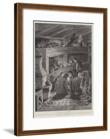 Winter in China, a Chinese Rest-House-Paul Frenzeny-Framed Giclee Print