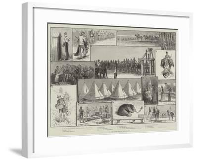 In Camp with the 2nd Life Guards-Paul Frenzeny-Framed Giclee Print
