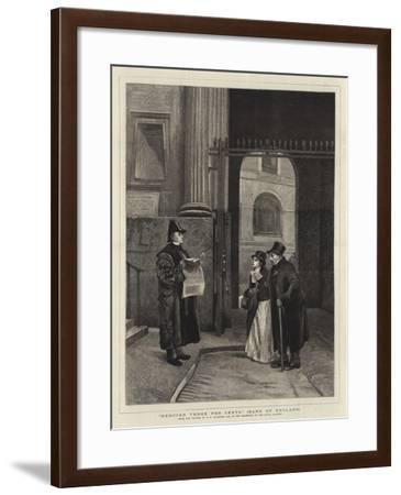 Reduced Three Per Cents, Bank of England-Philip Hermogenes Calderon-Framed Giclee Print