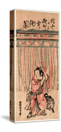 Nawasudare-Nishimura Shigenaga-Stretched Canvas Print