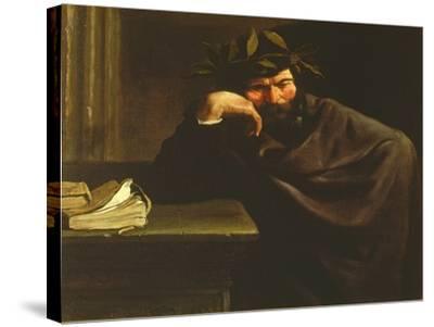 A Poet-Pier Francesco Mola-Stretched Canvas Print