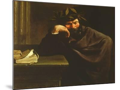 A Poet-Pier Francesco Mola-Mounted Giclee Print