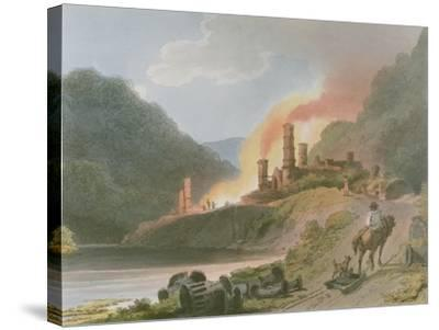 Iron Works, Coalbrook Dale, from 'Romantic and Picturesque Scenery of England and Wales', 1805-Philippe De Loutherbourg-Stretched Canvas Print