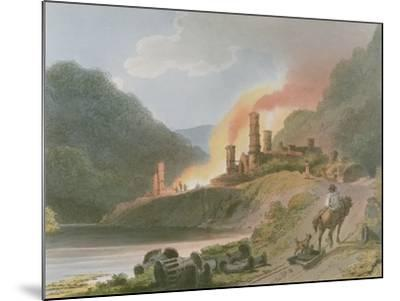 Iron Works, Coalbrook Dale, from 'Romantic and Picturesque Scenery of England and Wales', 1805-Philippe De Loutherbourg-Mounted Giclee Print