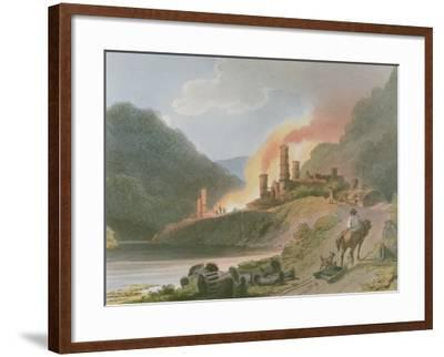 Iron Works, Coalbrook Dale, from 'Romantic and Picturesque Scenery of England and Wales', 1805-Philippe De Loutherbourg-Framed Giclee Print