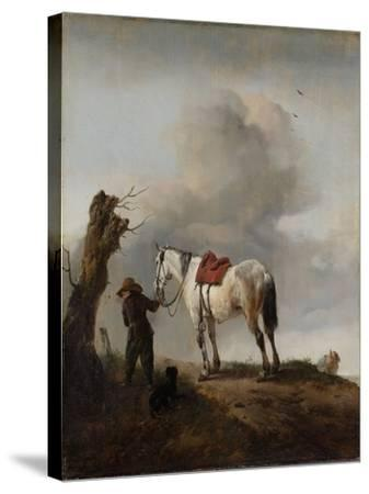 The Grey Horse, C.1646-Philips Wouwermans-Stretched Canvas Print