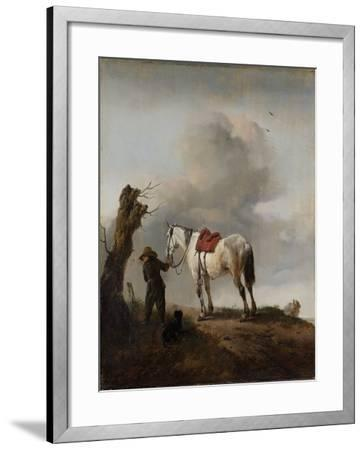 The Grey Horse, C.1646-Philips Wouwermans-Framed Giclee Print