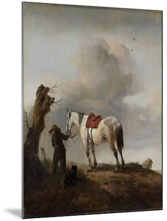 The Grey Horse, C.1646-Philips Wouwermans-Mounted Giclee Print
