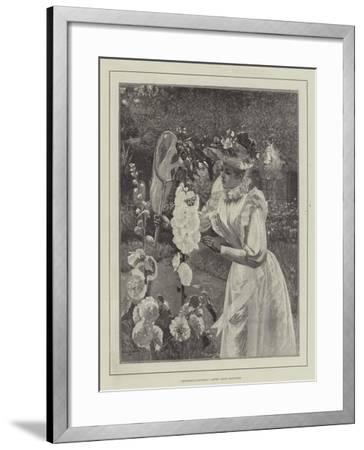 Butterfly-Catching-Pierre Andre Brouillet-Framed Giclee Print