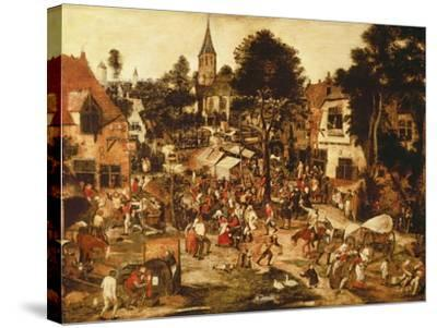 The Village Fair-Pieter Brueghel the Younger-Stretched Canvas Print