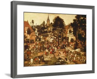 The Village Fair-Pieter Brueghel the Younger-Framed Giclee Print