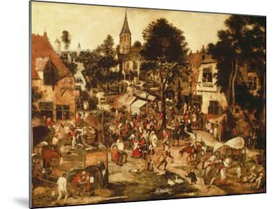The Village Fair-Pieter Brueghel the Younger-Mounted Giclee Print