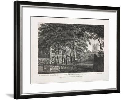 A North East View of the Tower and Lodge of the Archbishop of Canterbury's Palace at Croydon, 1808- Pouncy-Framed Giclee Print