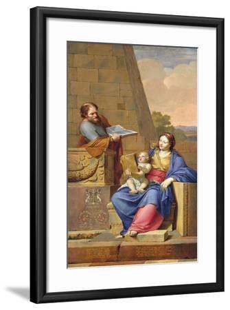 Rest on the Flight into Egypt, 1658-Pierre Letellier-Framed Giclee Print
