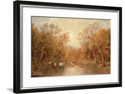Landscape with Cows-Ralph Albert Blakelock-Framed Giclee Print