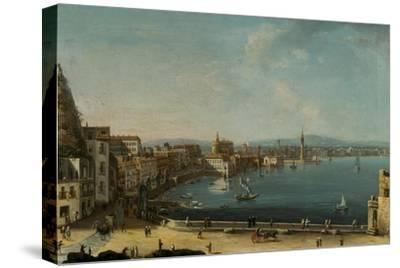 A Harbour in Italy (St. Lucia)-Pietro Antoniani-Stretched Canvas Print