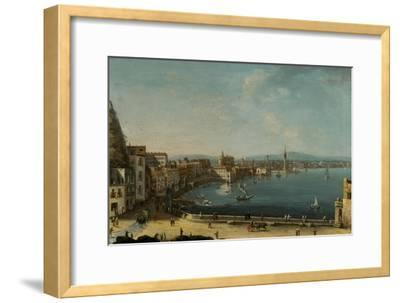A Harbour in Italy (St. Lucia)-Pietro Antoniani-Framed Giclee Print