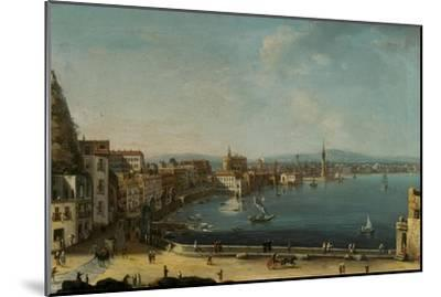A Harbour in Italy (St. Lucia)-Pietro Antoniani-Mounted Giclee Print