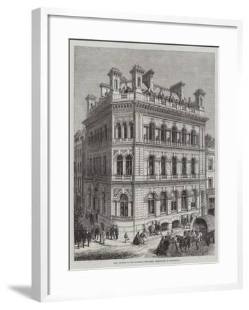 New Offices of the National Provident Institution in Eastcheap-R. Dudley-Framed Giclee Print